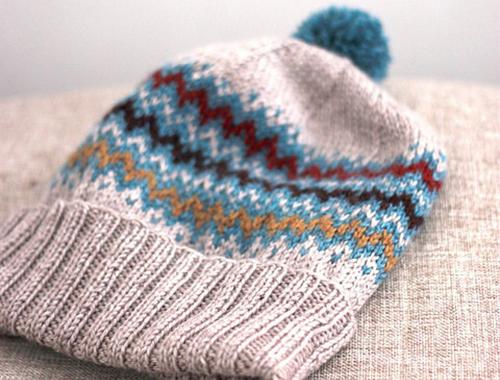 Tricoter un bonnet à revers, brimmed hat