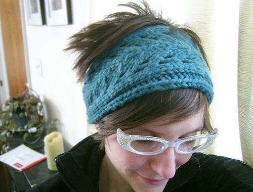 Tricoter un bandeau, minimaliste